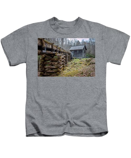 Mingus Millrace And Mill In Late Winter Kids T-Shirt