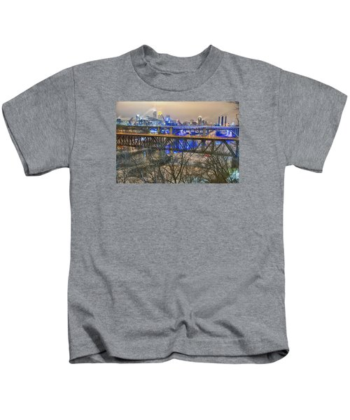Minneapolis Bridges Kids T-Shirt by Craig Voth