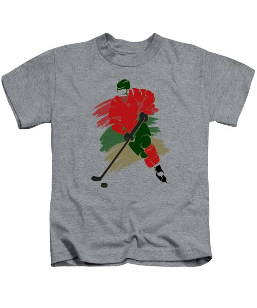 Minnesota Wild Player Shirt Kids T-Shirt by Joe Hamilton