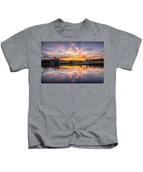 Mirror Lake Sunset Kids T-Shirt
