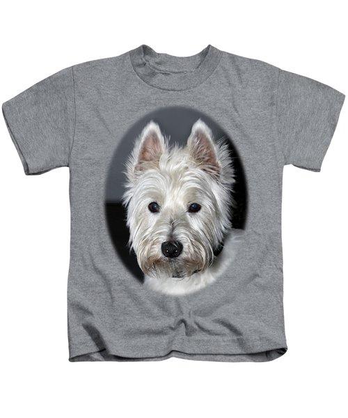 Mischievous Westie Dog Kids T-Shirt