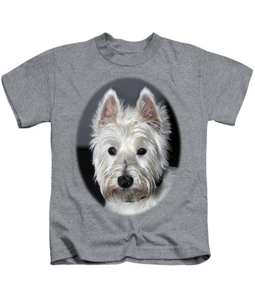 Mischievous Westie Dog Kids T-Shirt