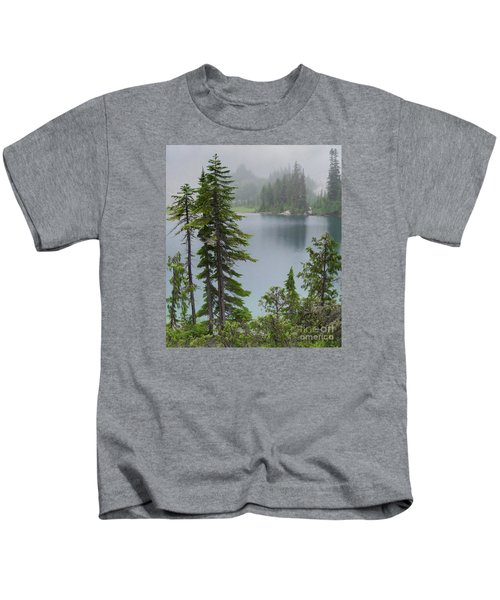 Mist At Snow Lake Kids T-Shirt