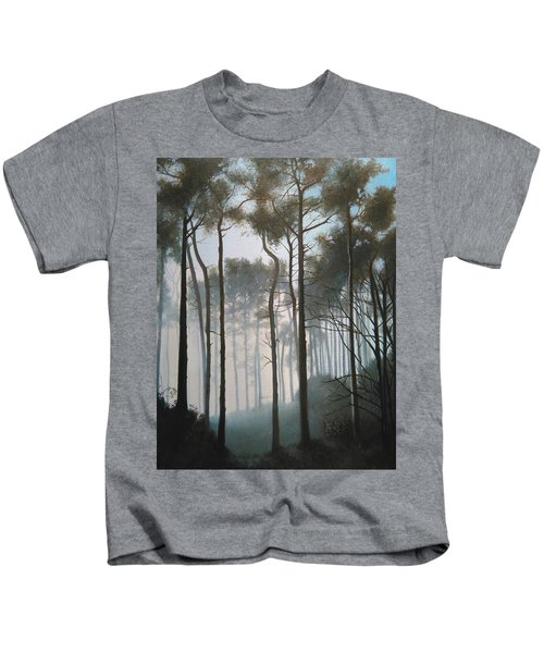 Misty Morning Walk Kids T-Shirt