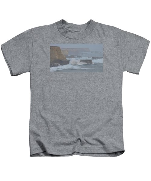 Misty Pacific Cliffs Kids T-Shirt