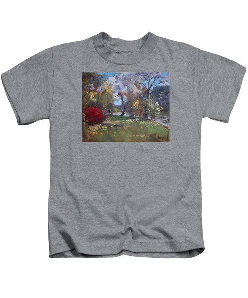 Mixed Weather In A Fall Afternoon Kids T-Shirt by Ylli Haruni