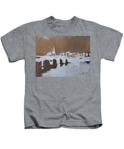 Moasbrogk In Brown Tints Kids T-Shirt by Nop Briex