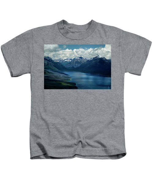 Montana Mountain Vista And Lake Kids T-Shirt