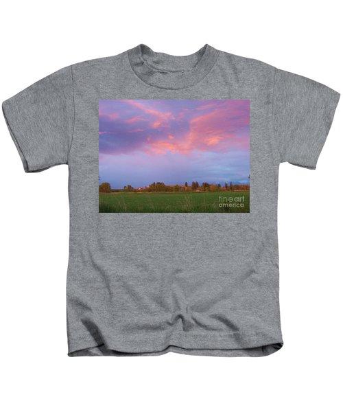 Montana Sunset 2 Kids T-Shirt