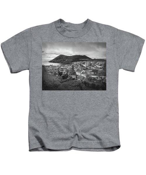 Monte Brasil And Angra Do Heroismo, Terceira Island, Azores Kids T-Shirt