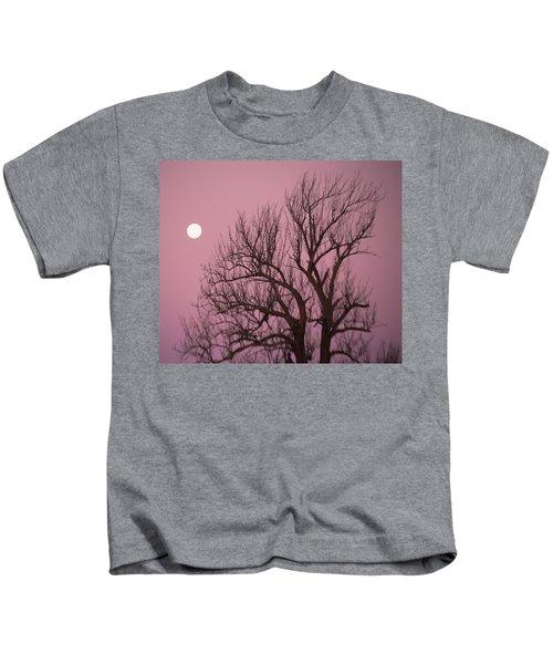 Moon And Tree Kids T-Shirt