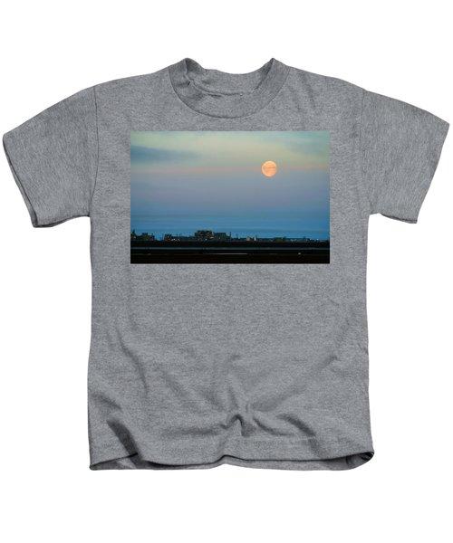 Moon Over Flow Station 1 Kids T-Shirt
