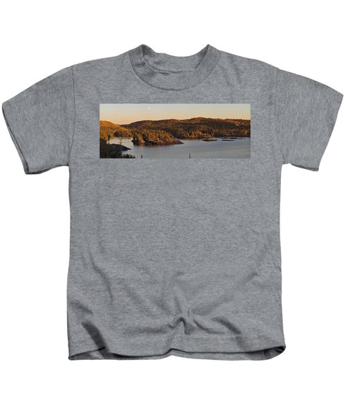 Moon Rise Over Pukaskwa Kids T-Shirt