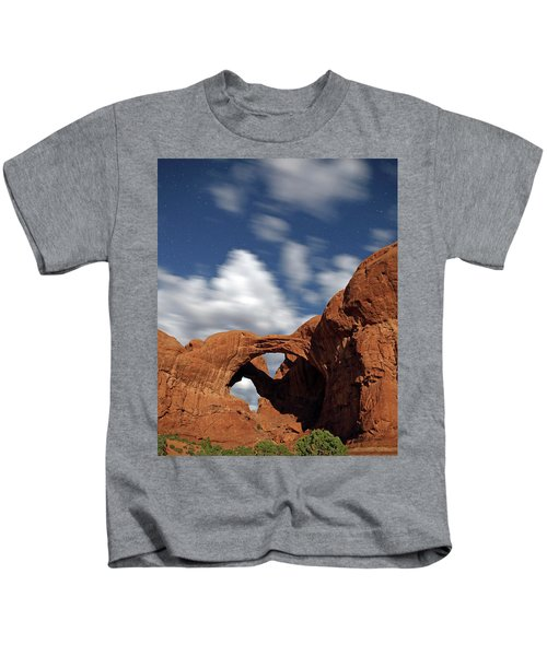 Moonlight On Double Arch In Arches Np Kids T-Shirt