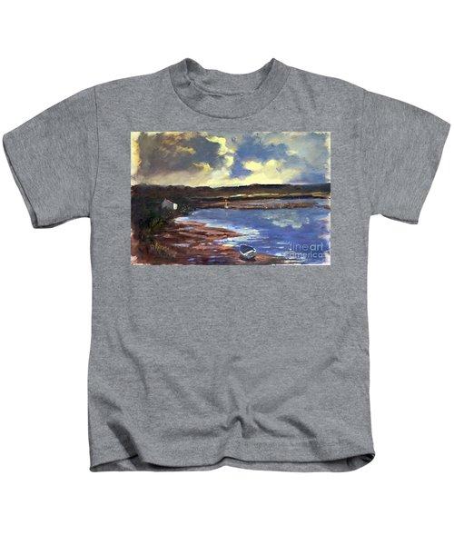 Moonlit Beach Kids T-Shirt