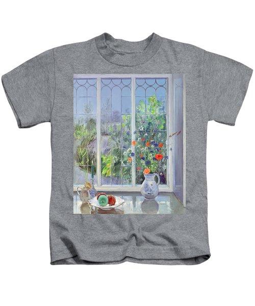 Moonlit Flowers Kids T-Shirt