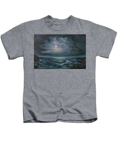 Moonlit Seascape Kids T-Shirt