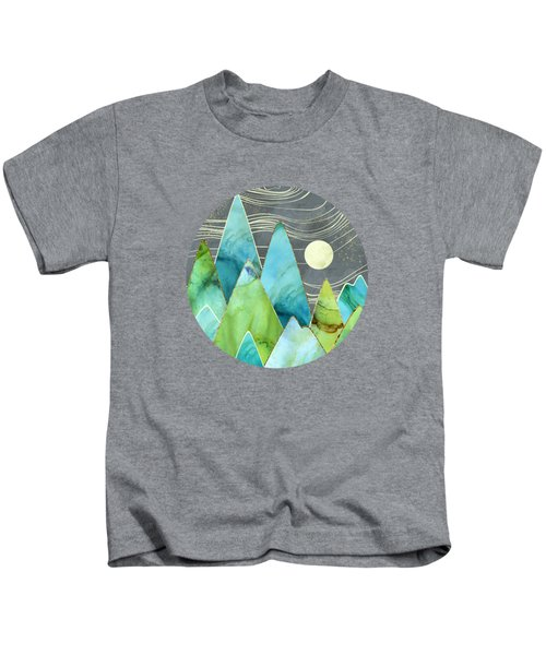 Moonlit Mountains Kids T-Shirt