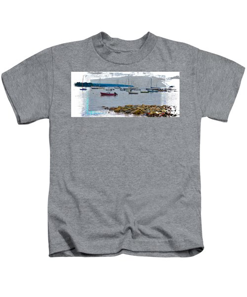 Moorings Mug Shot Kids T-Shirt by John M Bailey