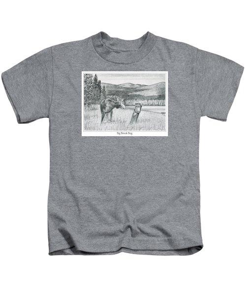Moose At Big Brook Bog Kids T-Shirt