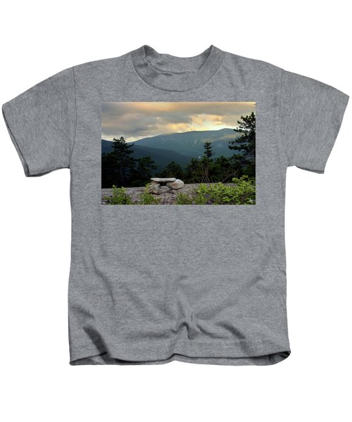 Moosilaukee View From Bench On Blueberry Mt. Kids T-Shirt