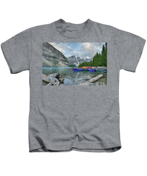Moraine Logs And Canoes Kids T-Shirt