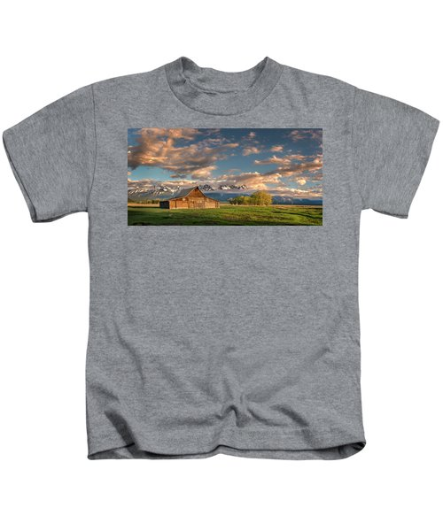 Mormon Row At Sunrise Kids T-Shirt
