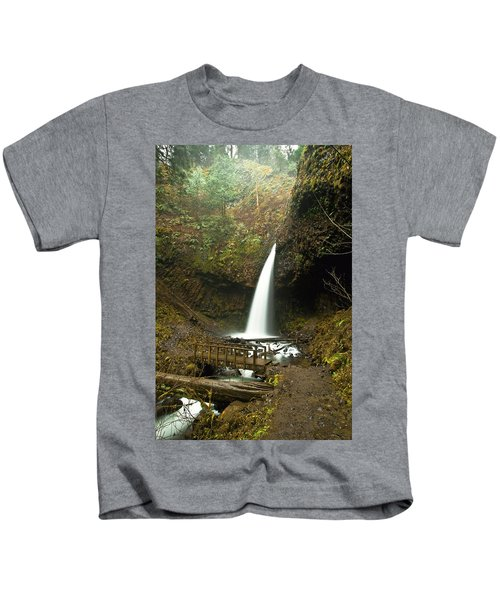 Morning At The Waterfall Kids T-Shirt
