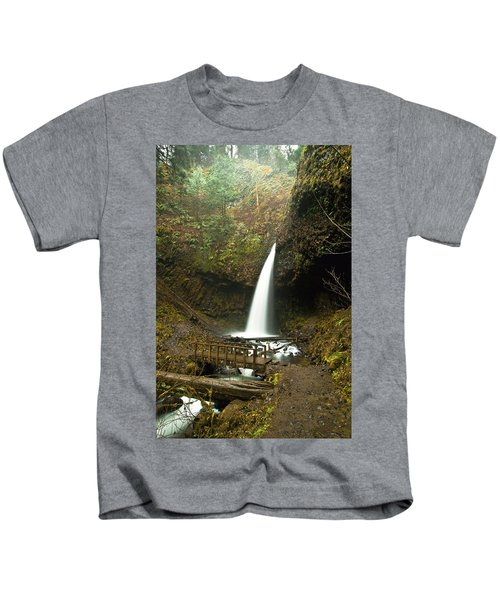 Morning At The Waterfall Kids T-Shirt