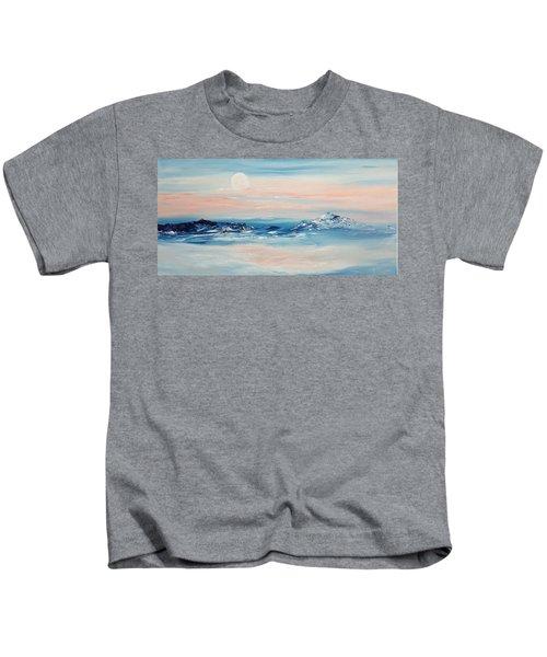 Morning Full Moon Kids T-Shirt