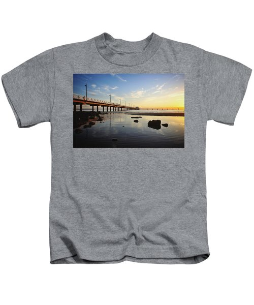 Morning Light Down By The Pier Kids T-Shirt