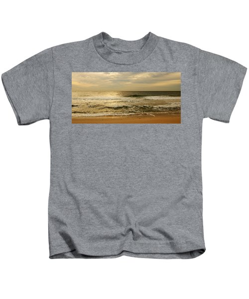 Morning On The Beach - Jersey Shore Kids T-Shirt