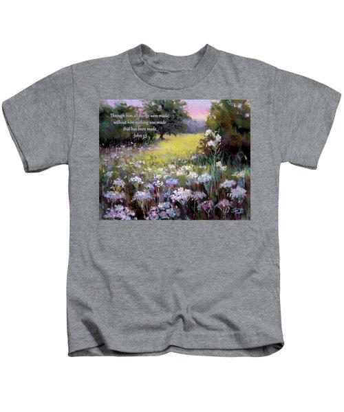 Morning Praises With Bible Verse Kids T-Shirt