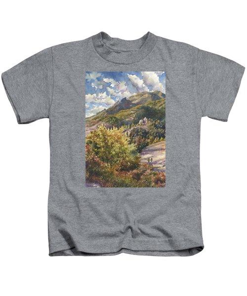 Morning Walk At Mount Sanitas Kids T-Shirt