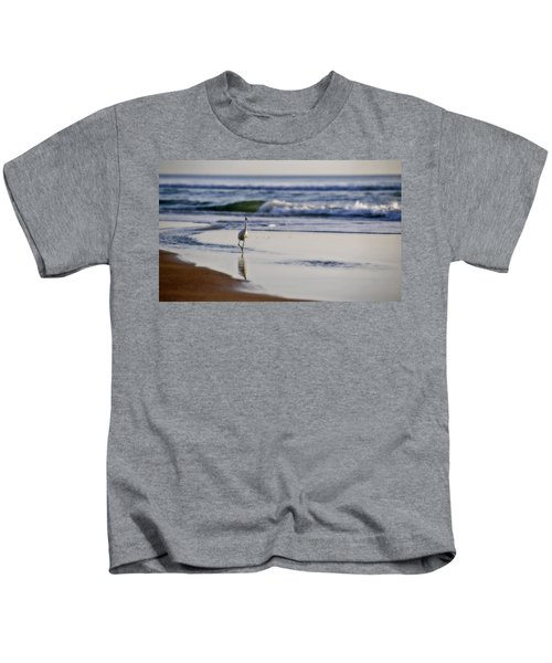 Morning Walk At Ormond Beach Kids T-Shirt