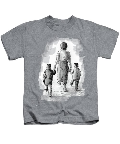 Mother And Kids Kids T-Shirt