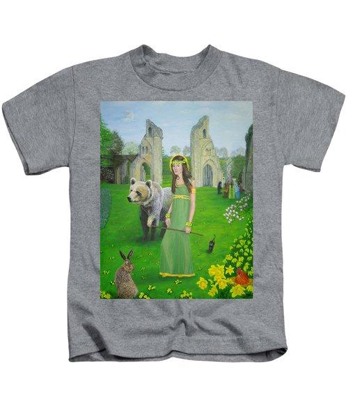 Mother Of Fire Goddess Artha - Spring Equinox Kids T-Shirt