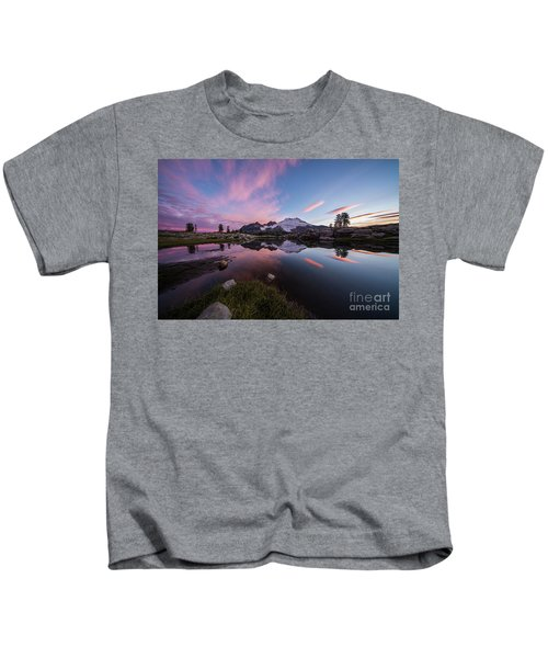 Mount Baker Dawns Colors Clarity Kids T-Shirt