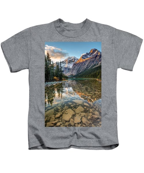 Mount Edith Cavell Sunrise Kids T-Shirt