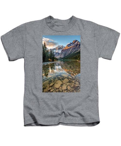 Mount Edith Cavell Sunrise Kids T-Shirt