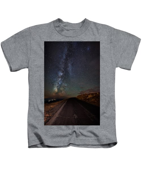 Mount Evans Road To The Milky Way Kids T-Shirt