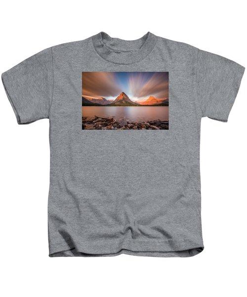 Mount Grinnell Sunrise Kids T-Shirt