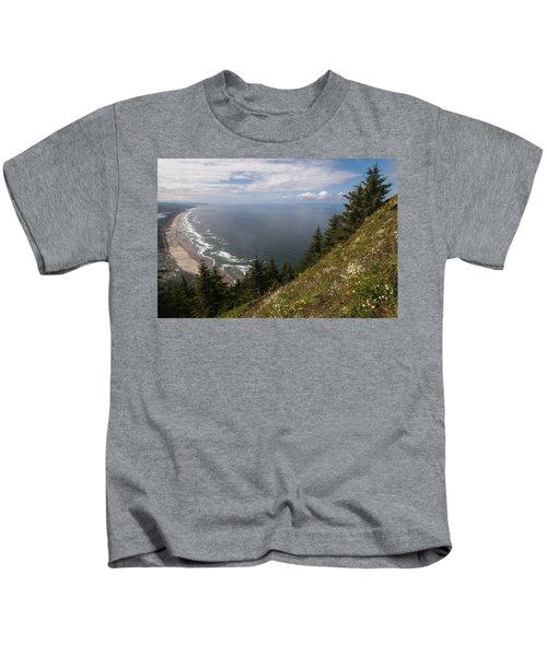 Mountain And Beach Kids T-Shirt