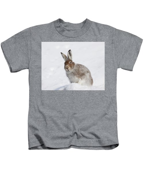 Mountain Hare In Winter Kids T-Shirt