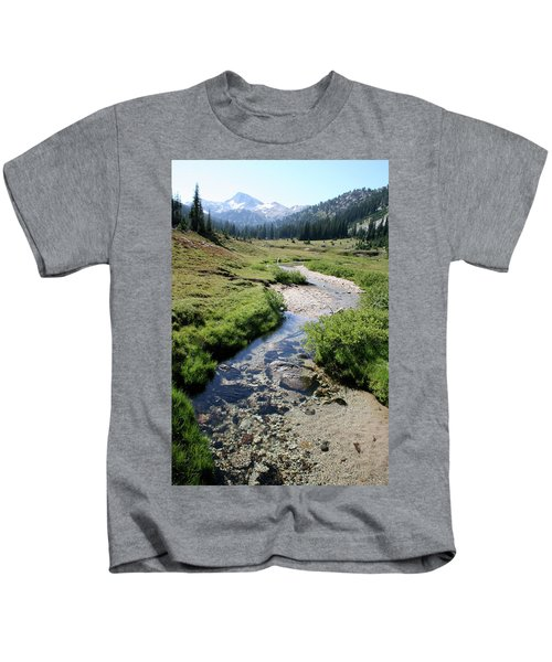Mountain Meadow And Stream Kids T-Shirt