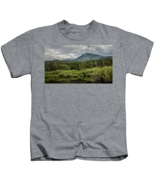 Mountain View From The Marsh Kids T-Shirt