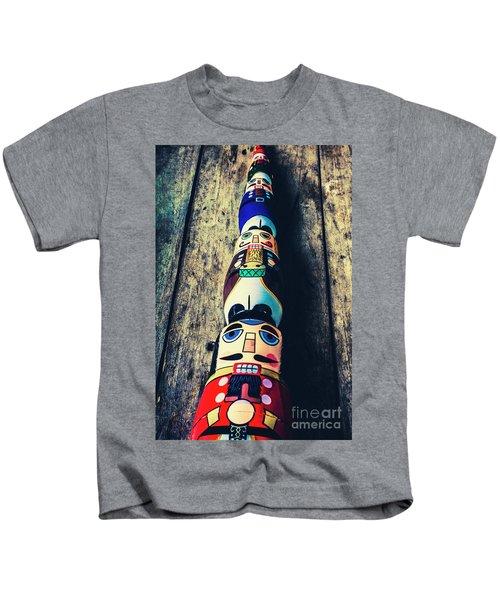 Moustache Men Kids T-Shirt