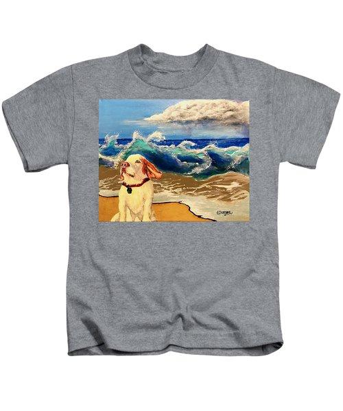 My Dog And The Sea #1 - Beagle Kids T-Shirt