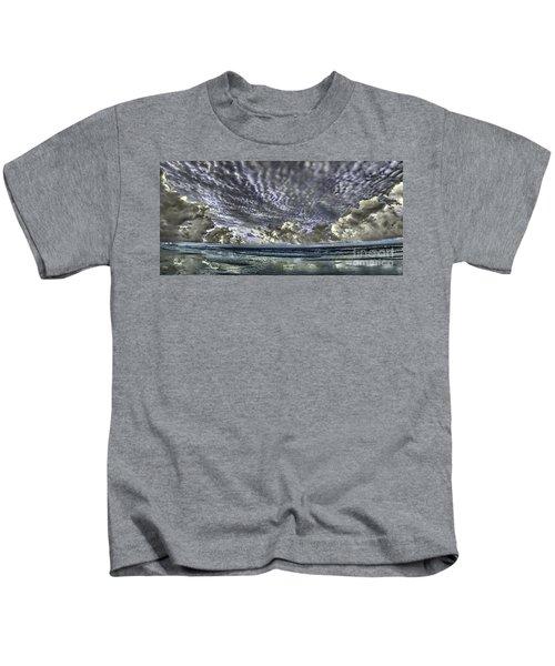 Myrtle Beach Hand Tinted Panorama Sunrise Kids T-Shirt