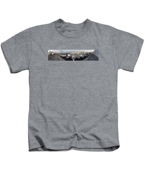 Kids T-Shirt featuring the photograph Naoussa Village Island Greece by Colette V Hera  Guggenheim